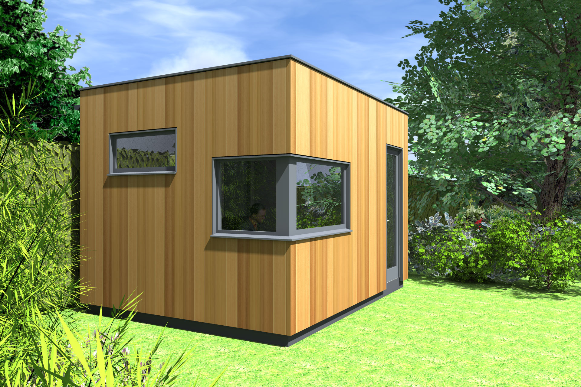 Insulated garden office contemporary garden office for Insulated office
