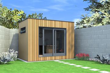 Insulated garden office contemporary garden office for Insulated garden office