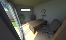 Garden Office Interior