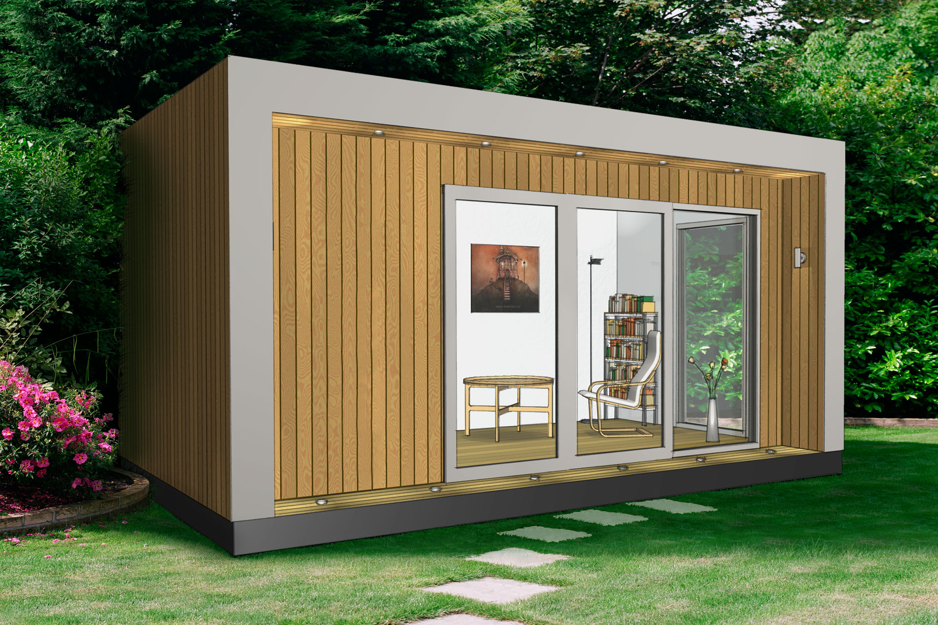 We do garden offices garden studios garden rooms house for Tiny garden rooms