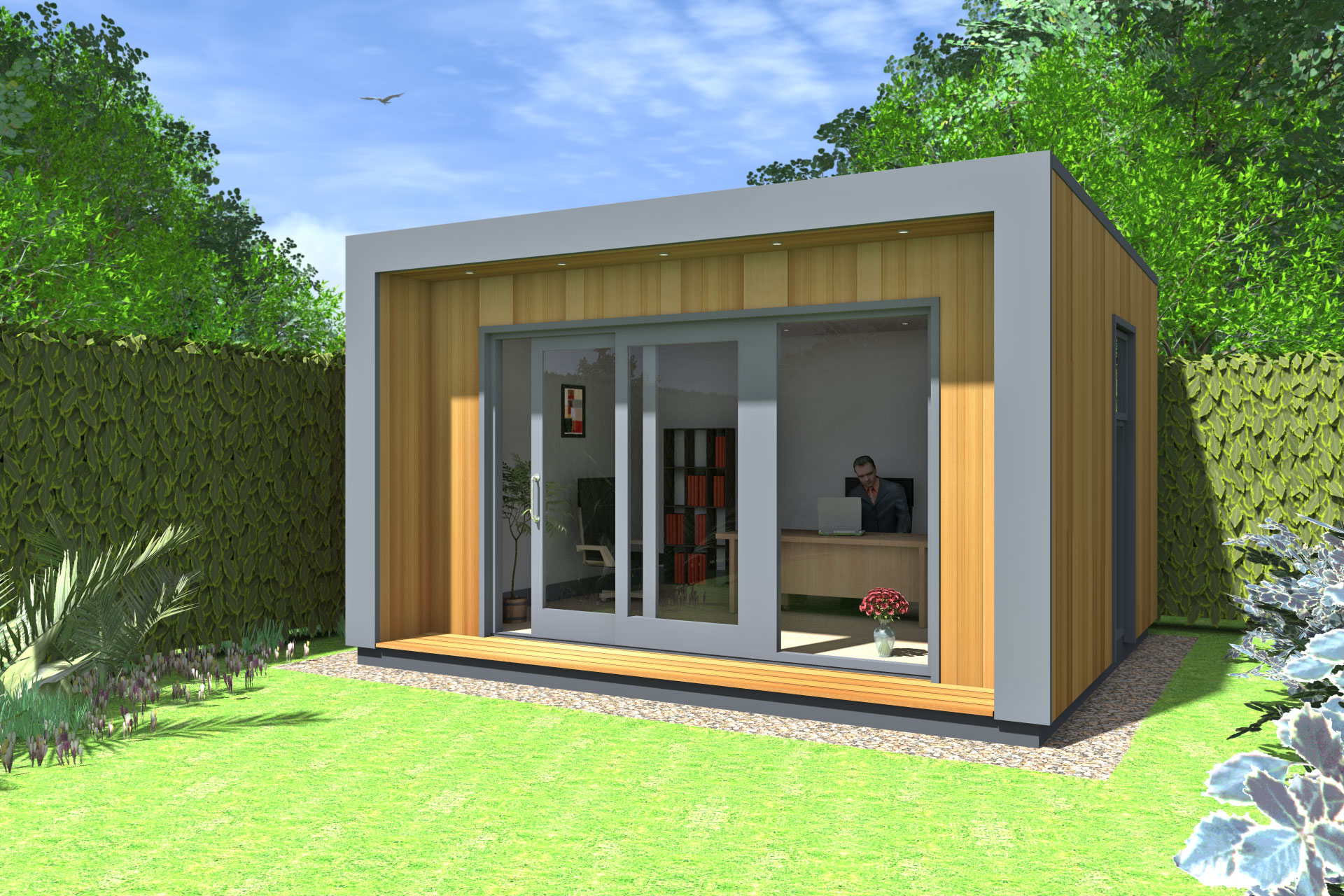 Ecos cubeco garden office ideas gallery ecos ireland for Garden house office
